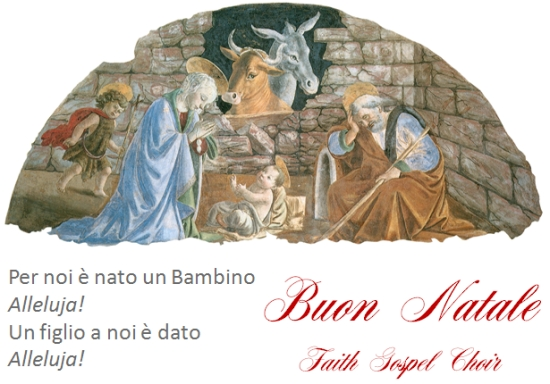 buon natale dal Faith Gospel Choir